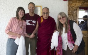 Sally with the Dalai Lama